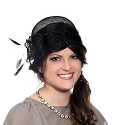 The Petal Cloche Hat Black