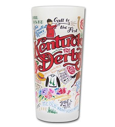Catstudio Kentucky Derby Frosted Glass,Holiday Gifts--25 or less