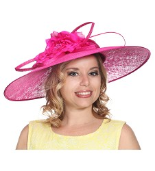 The Vintage Boater Fascinator Fuchsia