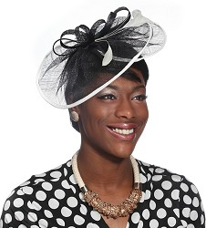 The Loops and Swirls Fascinator Black