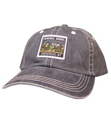 Churchill Downs Racing Label Cap Navy Blue One Size