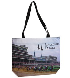 Churchill Downs First Turn Tote Bag
