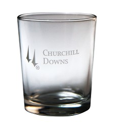 Churchill Downs Etched Tavern Whiskey Tumbler,03-003 LITE ETCH