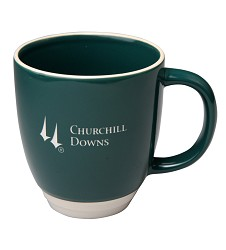 Churchill Downs Logo Duet Mug,02-126 GRN 13 OZ