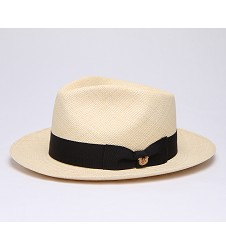 Men's Kentucky Derby Shantaung Fedora Ivory Medium