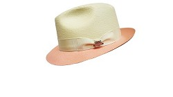 Men's Kentucky Derby Shantaung Fedora,BS3447-IV/PNK