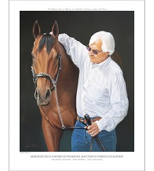 Pharoah and Baffert Official Edition Print,2002 BAXTER 16X20""