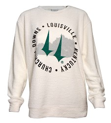Churchill Downs State & Spires Cozy Crew Sweatshirt,L01OAT-Q8992-5