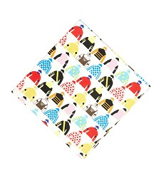 Triple Crown Silks Napkin by Pomegranate,1540301 20 X 20""