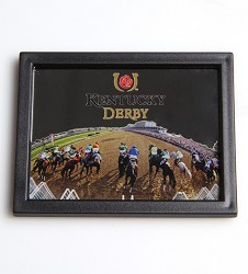 Starting Gate Mirror Framed Magnet