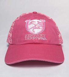 Kentucky Derby 143 Pigment Dyed Roses Ladies Cap Light Pink