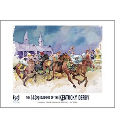 2017 Art of the Derby Poster,Kentucky Derby 143-Art of the Derby,825452524511