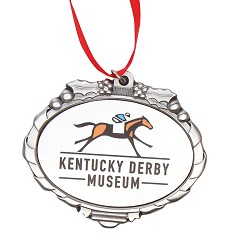 Kentucky Derby Museum Official Logo Pewter Ornament