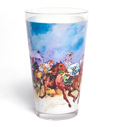 2017 Art of the Derby Pint Glass 12 Ounces