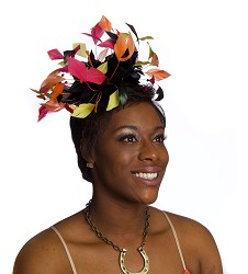 The Harlequin Feather Fascinator,KD83DERBYF MULTI