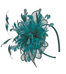 The Rolling Sinamay Headband Fascinator,KD80DERBYF-EMRA