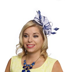 The Crinoline Loopy Fascinator,KD85DERBYF-NAVY