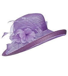 The Braid Bretton Hat,LD83-LAVENDAR