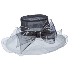The Two-Tone Organza Hat,LD84-BLACK