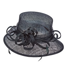 The Sinamay Curley Cue Hat,LD81-BLACK