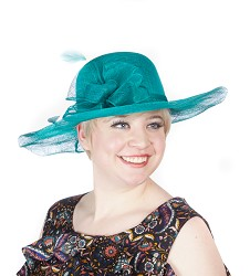 The Soft-Brim Sinamay Hat Teal