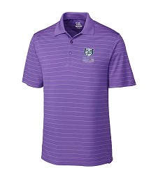 Kentucky Derby 143 Embroidered Franklin Stripe Polo Purple Large
