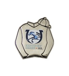 Kentucky Derby 143 Silks Lapel Pin