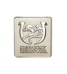 Kentucky Derby 143 Silver Lapel Pin
