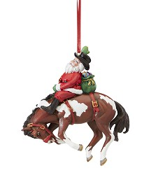 Santa's Wild Ride Ornament,Breyer,700648
