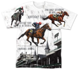 Racing Horse/Churchill Downs Sublimated Tee White Youth 2/4