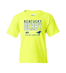 Kentucky Derby 143 Youth On Track Tee Safety Green Small