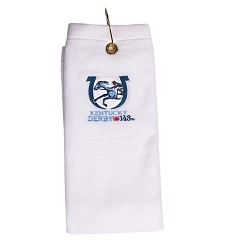 Kentucky Derby 143 Embroidered Golf Towel White