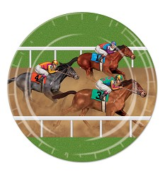 Race Horse Paper Plates Pack of 8
