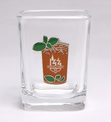 Kentucky Derby 144 Mint Julep Emblem Shot Glass