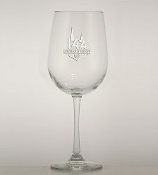 Kentucky Derby 144 Etched Wine Glass
