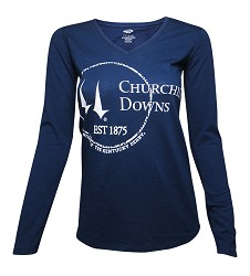 Churchill Downs Long-Sleeved Circle Tee,ATT-KD