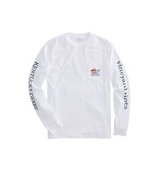 Vineyard Vines 2018 Boater Whale Long-Sleeved Tee,Kentucky Derby 144-2018 Vineyard Vines Collection,1V0908-WHITE CAP