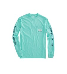 Vineyard Vines 2018 Derby Stamp Long-Sleeved Pocket Tee