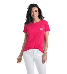 Vineyard Vines 2018 Ladies' Rose Whale Tee
