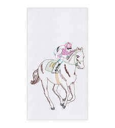 Horse and Jockey Flour Sack Towel