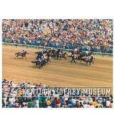 1973 Secretariat Down the Stretch Photo,#O1000-10