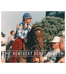 1987 Alysheba With Chris McCarron Photo