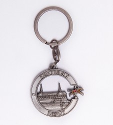 Kentucky Derby Side Swivel Keychain