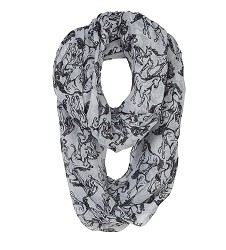 Voile Polyester Linear Horse Infinity Scarf