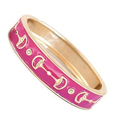 Enamel Bangle Bit Bracelet