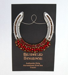 Racing Roses Bejeweled Horseshoe