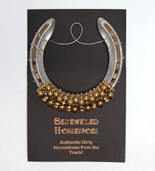 Golden Pearl Bejeweled Horseshoe