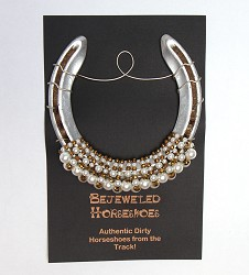 White Gold Bejeweled Horseshoe,WHITE GOLD HS