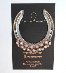 Light Pink Pearl Bejeweled Horseshoe