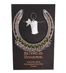 Mint Julep Bejeweled Horseshoe